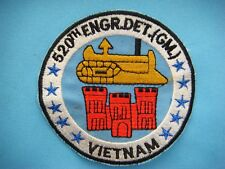 VIETNAM WAR PATCH, US 520th ENGINEER DETACHMENT (GM)