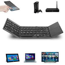 Hot Tri-fold Wireless Folding Keyboard Bluetooth 3.0 Foldable Mini Touchpad