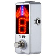 Mini Chromatic Tuner Pedal Effect LED Display True Bypass for Guitar Bass L