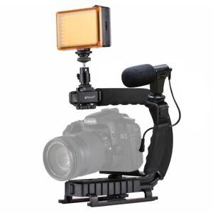PULUZ U/C Shape Portable Handheld DV Bracket Stabilizer Kits for SLR DV Camera