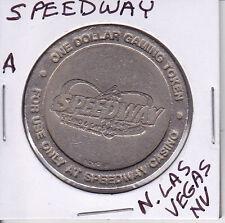 Casino $1 Token Chip - Speedway - North Las Vegas, Nevada Closed 2008 Obsolete