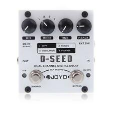 JOYO D-SEED Dual Channel Digital Delay Guitar Effect Pedal with Four Modes A4Z1