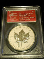 2012 Canada 1 Oz Maple Leaf $5 Silver PCGS SP-69 Dragon Privy Reverse Proof