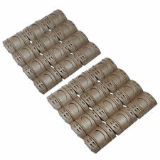24 PCS Universal Weaver Picatinny Rubber Rail Covers Hand Guard Earth Dark Tan
