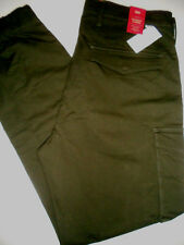 NWT LEVI'S 33 x 30 SLIM Stretch Taper Leg BANDED CARGO Jogger Style Forest Pants