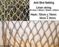 Filet Filet de Lin Naturel Anti Oiseau Culture Plantes Jardin Légumes Fruitiers