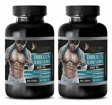 Tribulus Terrestris 1000mg Bodybuilding Testosterone Booster 2 Bot 180 Tabs SEW