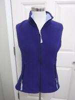 Women's PATAGONIA SYNCHILLA S Small Blue Purple Zip Up Fleece Jacket Vest