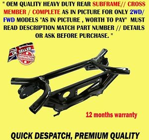 REAR SUBFRAME AXLE CROSSMEMBER FOR JEEP PATRIOT COMPASS 2WD 2007> DODGE CALIBER