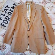 VTG 80s Izod Lacoste Wool Men's Size 20 Blazer Sports Coat Tan HTF