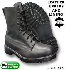ARMY PARA MILITARY JUMP BOOTS 100% LEATHER UPPERS SKINS MOD BIKER PUNK RANGERS