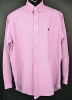 Polo Ralph Lauren Men's Size L Red Plaid Long Sleeve Polo Shirt