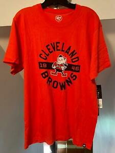 CLEVELAND BROWNS NFL 47 BRAND BROWNIE THE ELF RETRO ROUNDABOUT CLUB T-SHIRT NWT