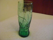 Coca Cola Green Glass With Grooves Drinking Glass
