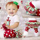 Newborn Infant Baby Girl Clothes Romper+Tutu Skirts+Leg Warmers 3PCS Outfits Set