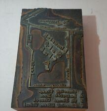 vintage Limerick Golf Club metal printing block golf course clubs cart pa