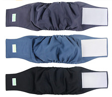 wegreeco Washable Dog Diapers - Washable Male Dog Belly Wrap - Pack of 3, XL