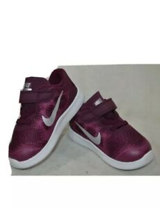 Nike Free RN 2017 (TDV) Bordeaux/Sil Toddler Girl's Shoes - Size 7C NWB