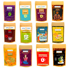 LOTUS TODAY Herbs, Herbal Tea, Organic Ayurveda Tea Blends, Tea Bags, varieties