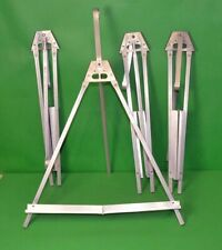Lot of 4 Aluminum Table Easel Light Weight Foldable Canvas Poster Picture Holder