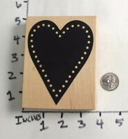 Wooden RUBBER STAMP Block Lot Valentine Love Heart