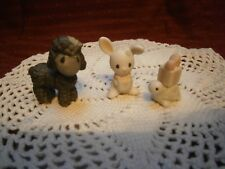 Precious Moments Mini Nativity 3 pc animal set Lamb/Bunny/Turtle