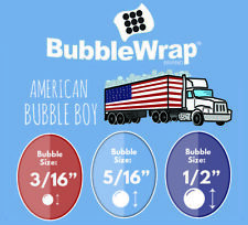 "Bubble Wrap Small Bubble ( 3/16 ) Medium ( 5/16) Large (1/2) - 24"" 12"" 48"" Rolls"