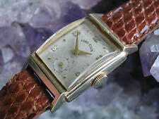 Lord Elgin Vintage 10K Gold Deco Wrist Watch, 1958 Ford Motor Co. Presentation