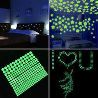 200Pcs Glow In The Dark Star Wall Stickers Home Sticker Decor Kids Bedroom US