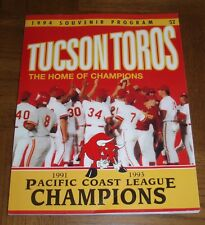VINTAGE 1994 TUCSON TOROS  BASEBALL PROGRAM - CHAMPIONS-HOUSTON ASTROS AFFILIATE