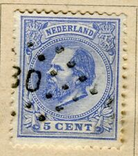 NETHERLANDS;  1872 early William issue fine used 5c. value