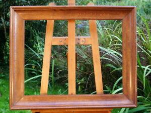 schöner Prunkrahmen Holzrahmen Massivholz 74 x 60 cm FM: 66 x 46 cm