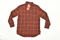 NWT Women's The North Face Long Sleeve Boyfriend Red Button Shirt Plaid Sz M