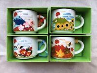 Starbucks You Are Here Collection Japan Ornament Mini Mug 4 Seasons Set 59ml 2oz