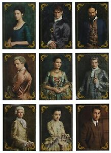 Outlander Season 2 (2017) CHARACTER BIOS Trading Card Insert Set (9 Cards)