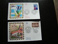FRANCE - 2 enveloppes 1er jour 1996 (var-jeux olympiques) (cy21) french