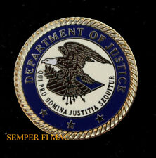DEPARTMENT OF JUSTICE SEAL DOJ LAPEL HAT PIN UP UNITED STATES FBI GIFT LAW  WOW