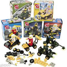 12 Vehicle Building Block Construction Kits Car Theme Party Favors Lot Set