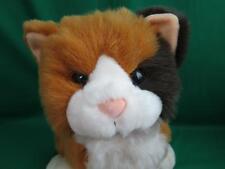 Big Orange Brown White Calico Kitty Cat Shaggy Commonwealth 1997 Plush Stuffed
