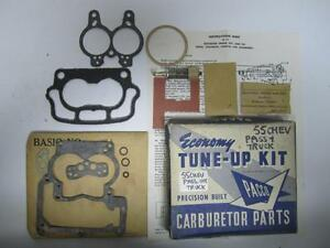55 Chevrolet Passenger Truck V8 Standard Carburetor Tune-Up Kit NORS E221