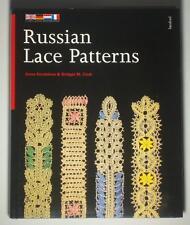 BOOK Russian Lace Patterns bobbin trim doily tatting pricking collar antique art
