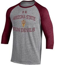Mens Under Armour Arizona Sundevils Tri Blend 3Xl Baseball Shirt