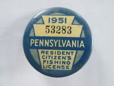 New listing Vintage 1951 Pennsylvania Fishing License
