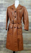 The Tannery Montgomery Ward Caramel Leather Coat Jacket Women's Sz 17/18  Large