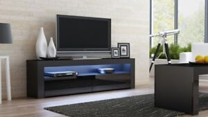Milano 157 Classic black gloss TV stand / television stand / tv cabinets