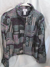 Renaissance XL Dress Jacket Purple, Gray, & Green