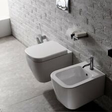 Sanitari Sospesi Ceramica Globo Stone 45 WC + BIDET + SEDILE SOFT CLOSE