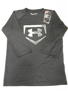 036 Steel Full Heather //Steel Youth Medium Under Armour Boys IL Utility 3//4 Shirt