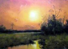Estate Glory : Originale Impressionista Pittura A Olio Alan Dickson 21cm X 30cm