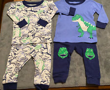 2 Sets Baby Boys Clothing 6 Months Carter's Pajamas 2 Piece Lot! Dinosaurs 6M